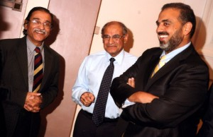Having a joke with Lord Ahmed of Rotherham at a fund raising event in Walsall