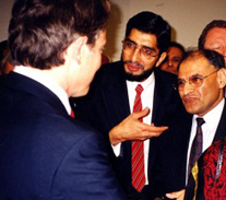 Being introduced to Tony Blair