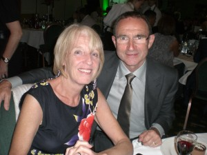 Martin O'Neil with my wife Val