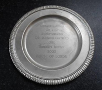 The disk presented as 'lifetime achievement'