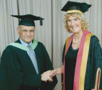 Receiving the Professorship from the Vice Chancellor of the University of Wolverhampton