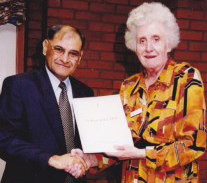Receiving the 'Long Service Award' (30 Years in the NHS)