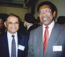 At a conference on 'leadership skills' with Lord Bill Morris secretary general of Transport and General Worker's Union