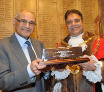 Receiving Freedom of the Borough of Walsall from the Mayor