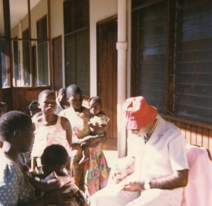 Working in Malawi, Africa 1978 vaccinating children