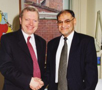 With Lord Hunt – Secretary of Health at his visit to the paediatric department assessment unit that Prof Gatrad pioneered.